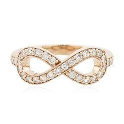 14KT Rose Gold 0.37 ctw Diamond Ring