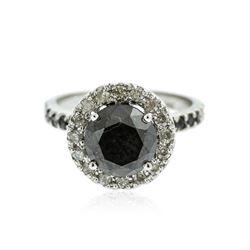14KT White Gold 5.23 ctw Black Diamond Ring