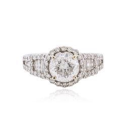 18KT White Gold EGL INT Certified 2.33 ctw Diamond Ring