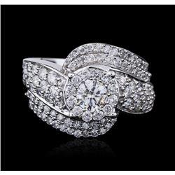 14KT White Gold 2.44 ctw Diamond Ring