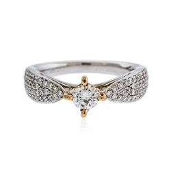 18KT Two-Tone Gold 0.86 ctw Diamond Ring