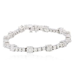 14KT White Gold 9.93 ctw Diamond Tennis  Bracelet