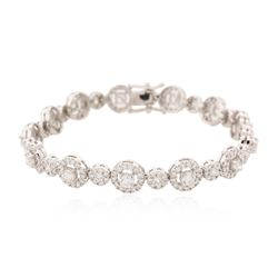 14KT White Gold 5.76 ctw Diamond Bracelet