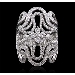 14KT White Gold 1.62 ctw Diamond Ring