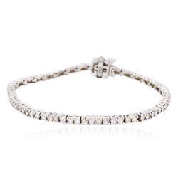 18KT White Gold 2.55 ctw Diamond Tennis Bracelet