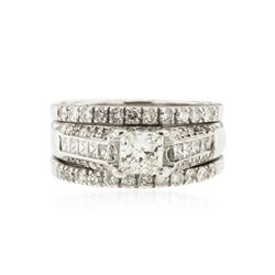 14KT White Gold 2.22 ctw Diamond Wedding Ring Set