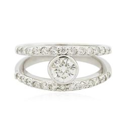 14KT White Gold 0.78 ctw Diamond Ring