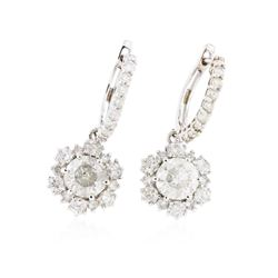 14KT White Gold 4.92 ctw Diamond Earrings