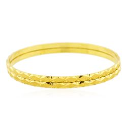 22KT Yellow Gold Fancy Bangle Bracelet