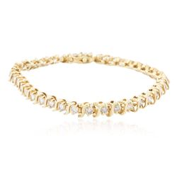 14KT Yellow Gold 3.56 ctw Diamond Bracelet