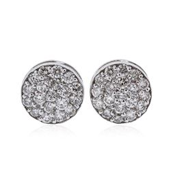 14KT White Gold 1.14 ctw Diamond Earrings