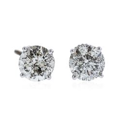 14KT White Gold 3.23 ctw Diamond Stud Earrings