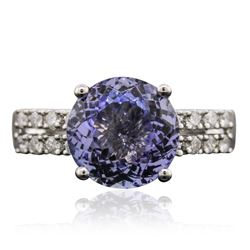 18KT White Gold 3.99 ctw Tanzanite and Diamond Ring