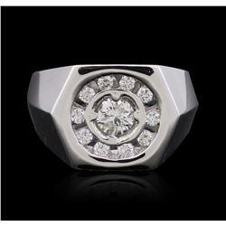 14KT White Gold 0.64 ctw Diamond Ring