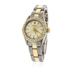 Ladies Rolex Two-Tone Diamond Oyster Perpetual Wristwatch