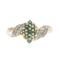 10KT Yellow Gold 0.39 ctw Alexandrite and Diamond Ring