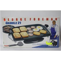 NEW GEORGE FOREMAN GRIDDLE 21
