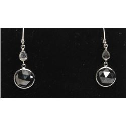 #39 14K WHITE GOLD DIAMOND EARRINGS