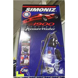 NEW SIMONIZ 2580 PSI ELECTRIC PRESSURE WASHER