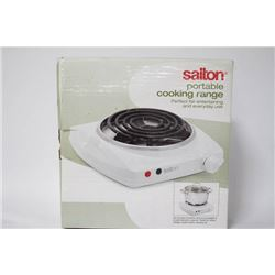 NEW SALTON PORTABLE COOKING RANGE - ONE BURNER