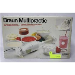 NEW BRAUN MULTI PRACTIC HAND BLENDER SET