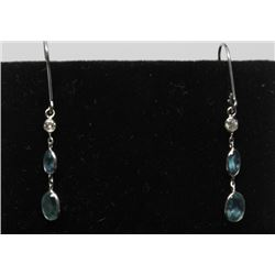 #43 14K GOLD ALEXANDRITE & DIAMOND DROP EARRINGS