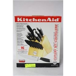 NEW KITCHENAID 16 PC CUTLERY SET