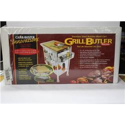 NEW GRILLBUSTER S-S BUTCHER BLOCK CART