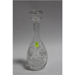 PINWHEEL CRYSTAL DECANTER WITH STOPPER