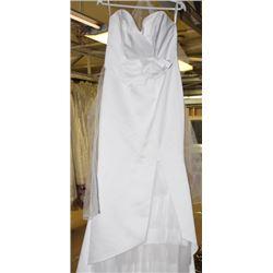 WHITE WEDDING DRESS SIZE: 10