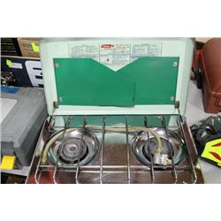COLEMAN LIGHT 2-TONE GREEN PROPANE CAMP STOVE