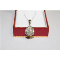 #128 10K GOLD DIAMOND 0.5ct PENDANT NECKLACE
