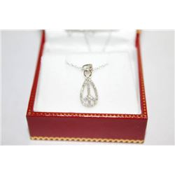 #134 14K GOLD DIAMOND 0.12ct PENDANT NECKLACE