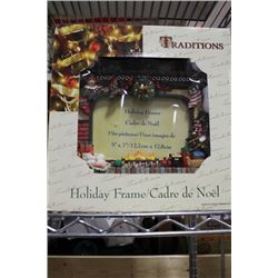 NEW 5 X 7 HOLIDAY FRAME X2
