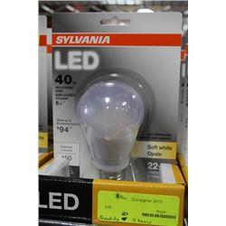 NEW SYLVANIA 6 WATT=40WATT LED LIGHTBULB