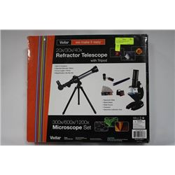 VIVITAR MICROSCOPE AND TELESCOPE SET