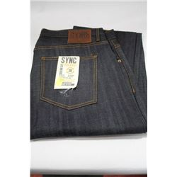 PAIR OF DENIM SYNC JEANS SIZE 38