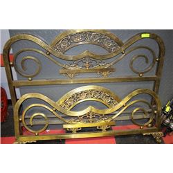 ANTIQUE BRASS DBL SIZE HEADBOARD AND FOOTBOARD