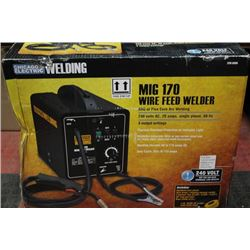 MIG 170 WIRE FEED WELDER MIG OR FLUX CORE ARC