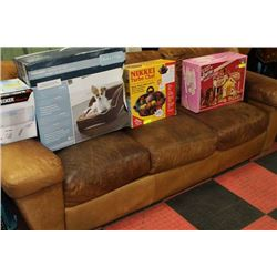 RUSTIC LEATHER SOFA - REMOVED FROM AUCTION