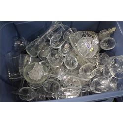TOTE OF ESTATE CRYSTAL AND GLASSWARE