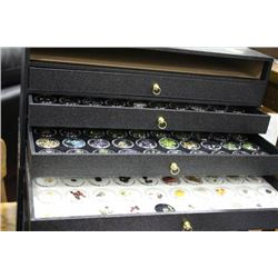 GEMSTONE DISPLAY CASE WITH 4 DRAWERS (5TH TRAY