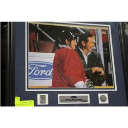 FRAMED WAYNE AND WALTER GRETZKY PICTURE