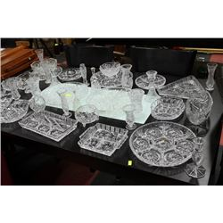 LARGE  ESTATE CRYSTAL GLASS COLLECTION