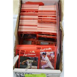 BOX OF 1990'S DON ROSS CARDS. BB, WITH ERROR CARDS