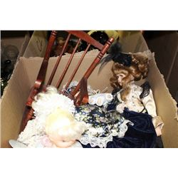 BOX OF ESTATE COLLECTOR DOLLS