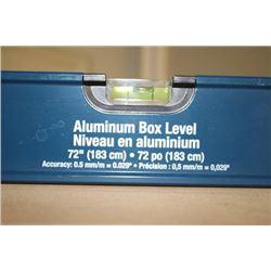 """72"""" ALUMINUM BOX LEVEL"""