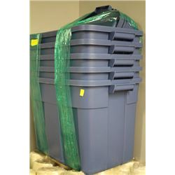RUBBERMAID ROUGHNECK 68L TUBS WITH LIDS