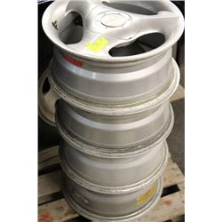 """SET OF 4  14""""  5 BOLT MAGS"""