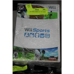 SET OF 5 WII GAMES ALL IN CASES